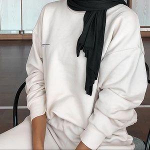PANGAIA Organic sweatshirt—off-white